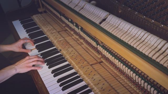 Playing piano 3